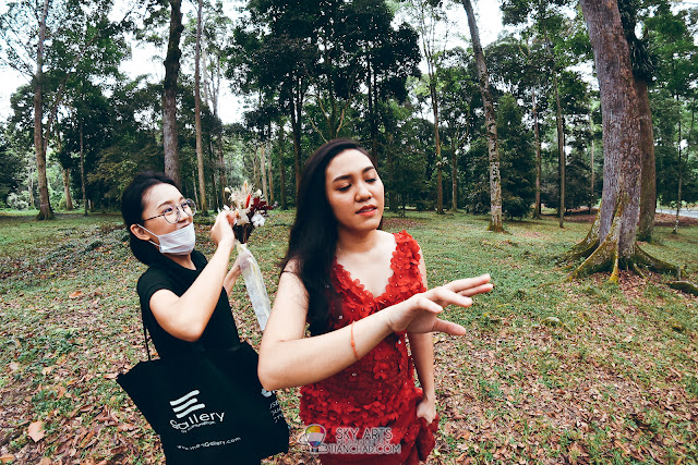 That moment after we removed a leech from her hand in FRIM Kepong