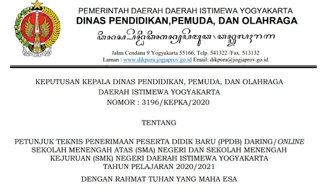 gambar juknis pPDB online sma smk yogyakarta 2020 2021