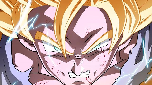 Goku, super sayan,