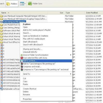Terkadang sebuah file ataupun folder yang tersimpan di drive pada komputer anda Cara Mengunci File RAR Dengan Password