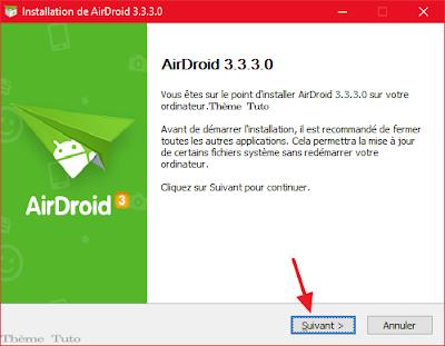 Application AirDroid pour pc