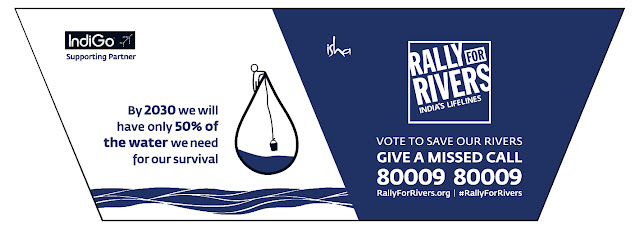 IndiGo joins a nationwide 'Rally for Rivers' awareness campaign
