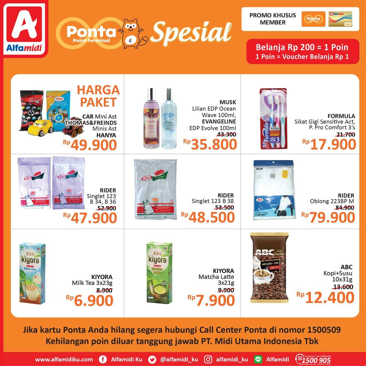 #Ponta - #Promo #Katalog Spesial Harga Belanja di Alfamidi (s.d 15 Maret 2019)