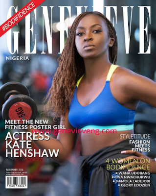 Kate Henshaw shows off her toned body on the cover of Genevieve magazine