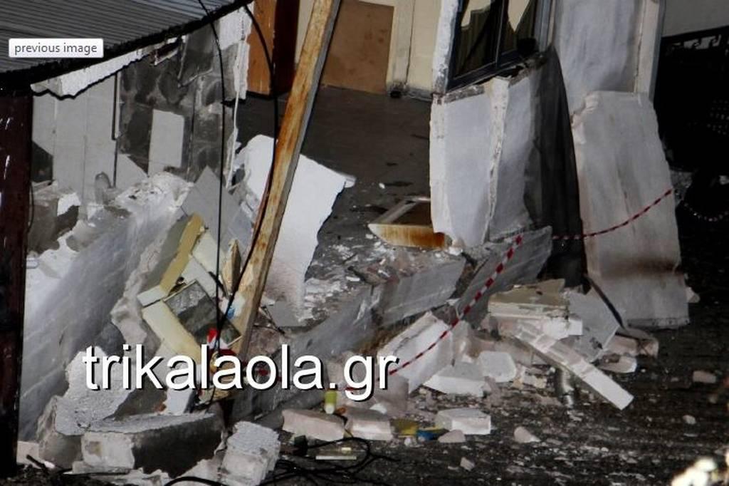 Καιρός: Νύχτα θρίλερ στα Τρίκαλα - Καταρρέουν σπίτια (vid)