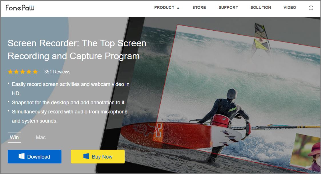 أصبح تسجيل الشاشة والتقاطها سهلاً مع FonePaw Screen Recorder شاشة مسجل: برنامج تسجيل وتسجيل أعلى الشاشة