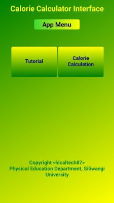 Calculation of Calorie Demand based on Android App