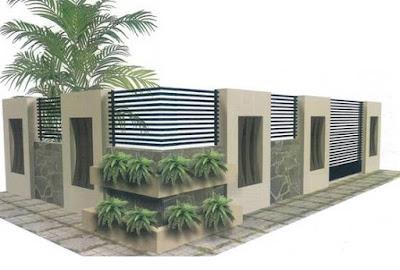 Foto Pagar Rumah Minimalis Modern Terbaru