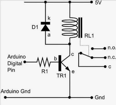 arduino : buat dan kendalikan relay 5 volt dengan