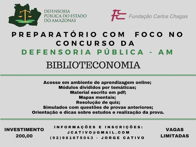 Preparatório em Biblioteconomia com foco no concurso da Defensoria Pública - AM