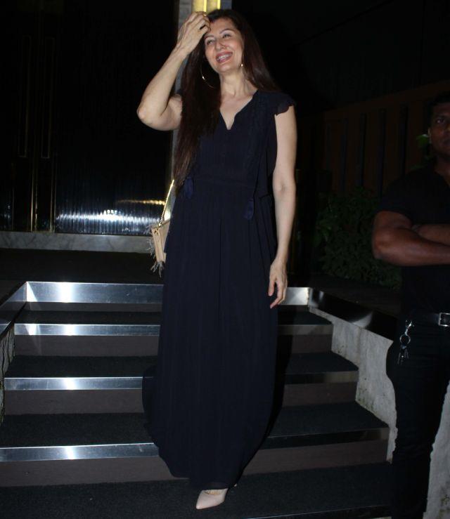 Sangeeta Bijlani In Back Dress at Rohini iyer Birthday Bash