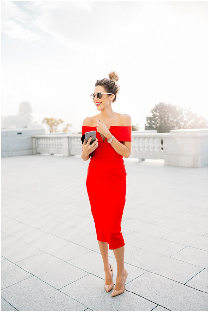 Fashion Inspiration : Holiday Dresses, Red Glamour :: Cool Chic Style Fashion