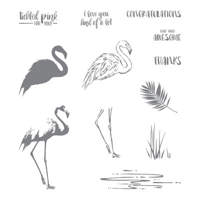 Stampin' Up! UK Independent  Demonstrator Susan Simpson, Craftyduckydoodah!, Fabulous Flamingo, July2017 Coffee & Cards Project, Supplies available 24/7 from my online store,