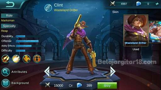 Hero Clint Mobile legends