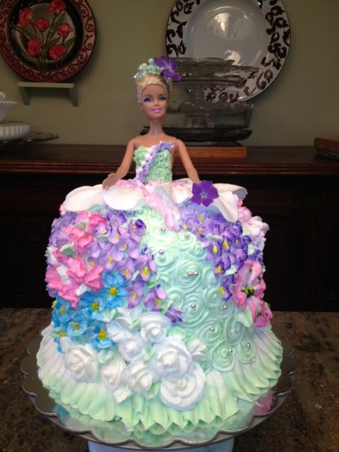 Frosted Art Woodland Fairy Barbie Doll Cake