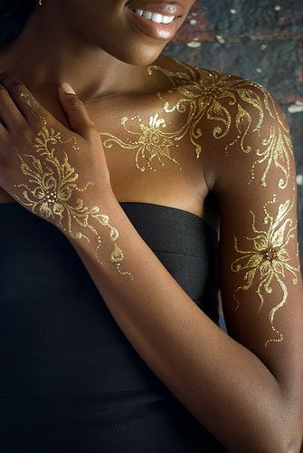 Best Gold Tattoo For Black Women
