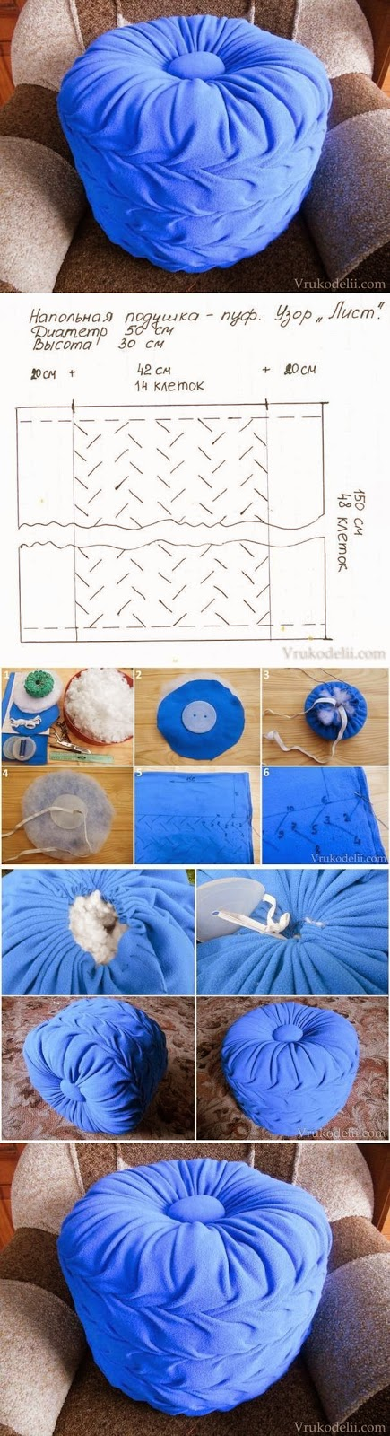 DIY: How To Make Floor Pillow