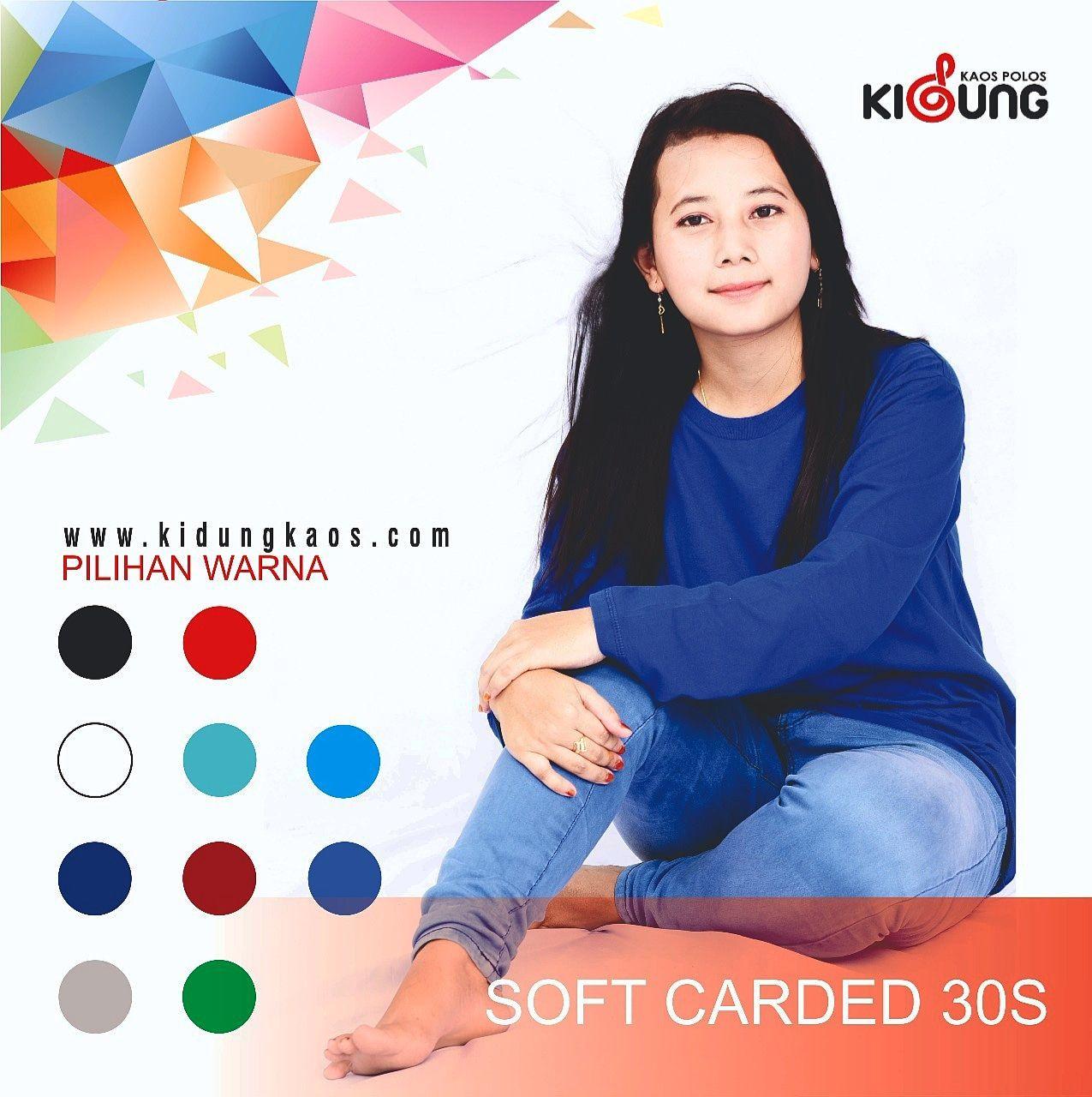 Kaos Polos Soft Cardet 30s