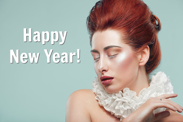 new year, happy new year, mystic magic, fashion, neck ruff, lace, photography, photo, ginger hair, beauty, elizabethan, style, blue,
