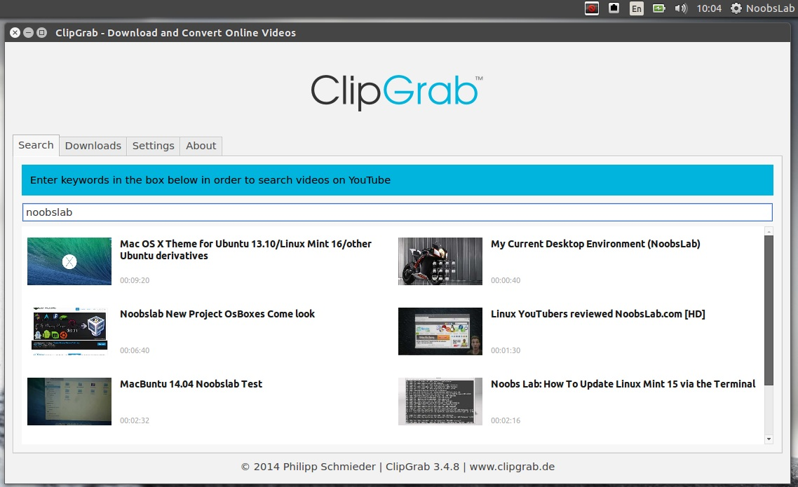 ClipGrab Is Now Available For All Current Ubuntu/Linux Mint Versions