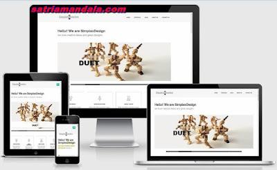 Template Simplex Creative
