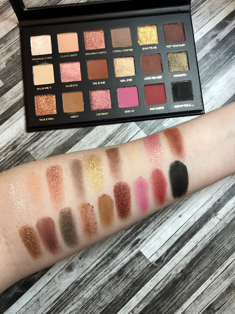 Rude Cosmetics Too Much Drama (Review and Swatches) Dupe for Huda Rose Gold Palette