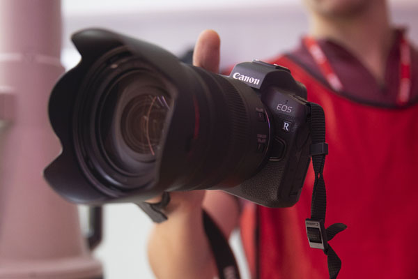 Canon EOS R at the launch event
