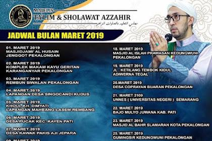 Jadwal Az Zahir Pekalongan Bulan Maret 2019