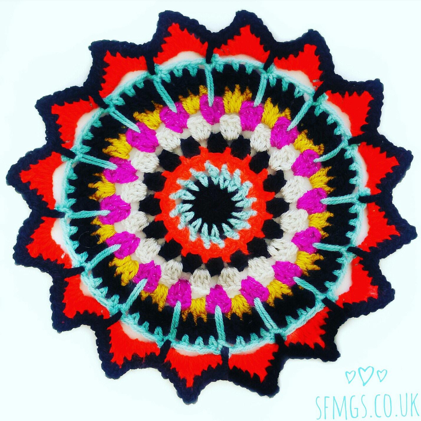 free crochet pattern mandala boho hippie gypsy