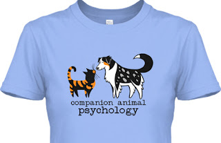 Companion Animal Psychology t-shirt shown in blue