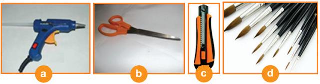 Alat-Alat Pembuatan Kerajinan Limbah Kotak Kemasan