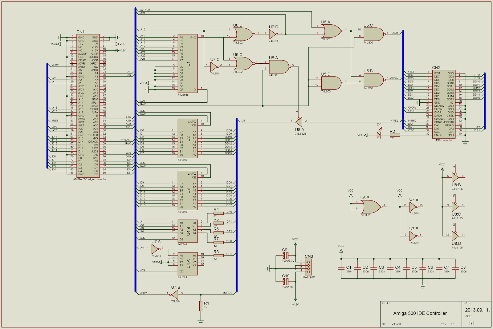medium resolution of amiga buffered ide controller schematic diagram