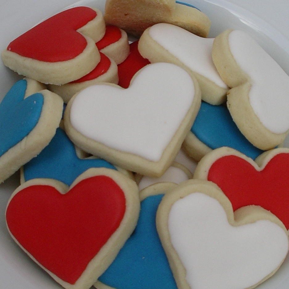 Ninas Show Tell Red White Blue Hearts