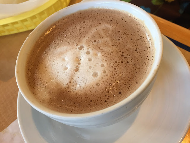 Mocha latte at Perfect Blend