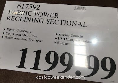 Deal for the Fabric Reclining Sectional at Costco