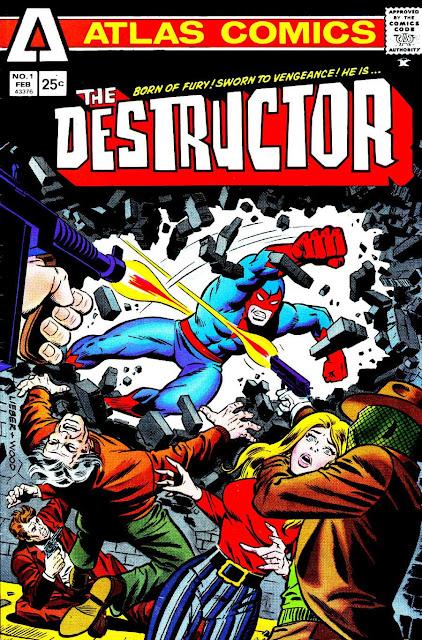 Destructor v1 #1, 1975 bronze age comic book cover - 1st Destructor