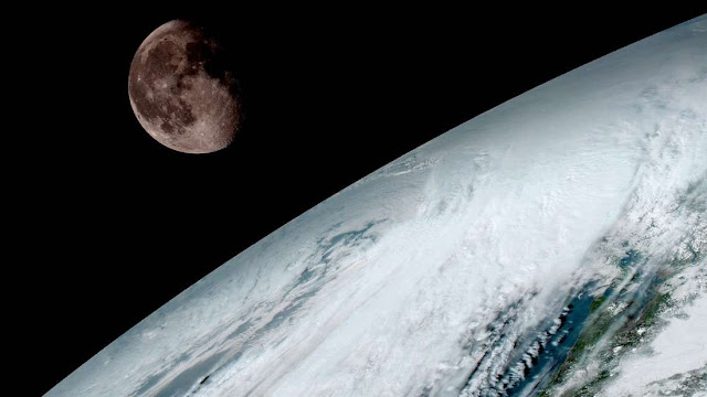 Foto supostamente tirada pelo satélite GOES-S 16 da Terra