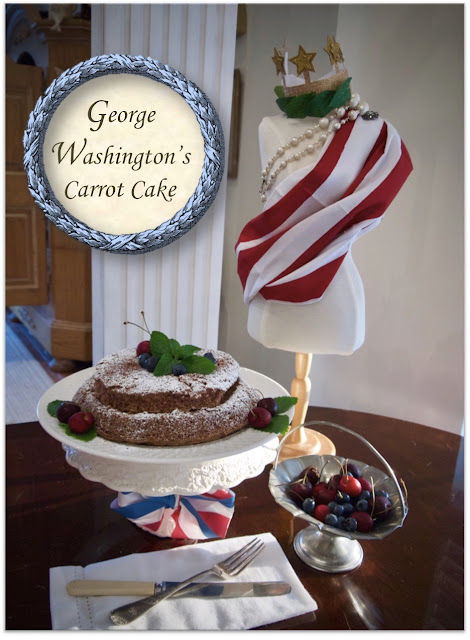 Tea with George Washington: a 235 year old carrot cake recipe