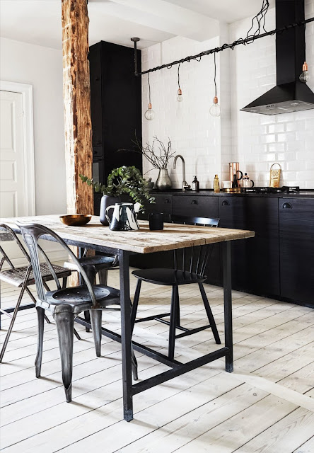 Copenhague / Appartement de 54m² au look industriel /