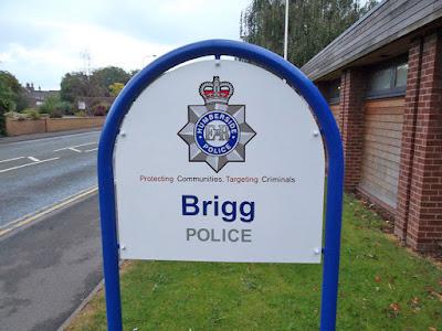 Brigg police station on Barnard Avenue - picture on Nigel Fisher's Brigg Blog