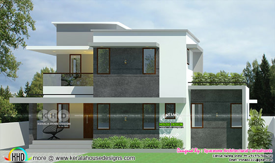 1300 sq-ft 3 BHK sober colored home