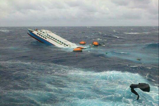 Passenger Vessel Going to Taiwan Sinks Near Batanes. Two Crew Members Are Still Missing.