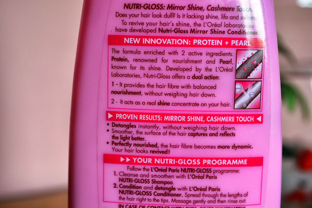 L'Oreal Nutri-Gloss Mirror Shine Conditioner Review and Pictures