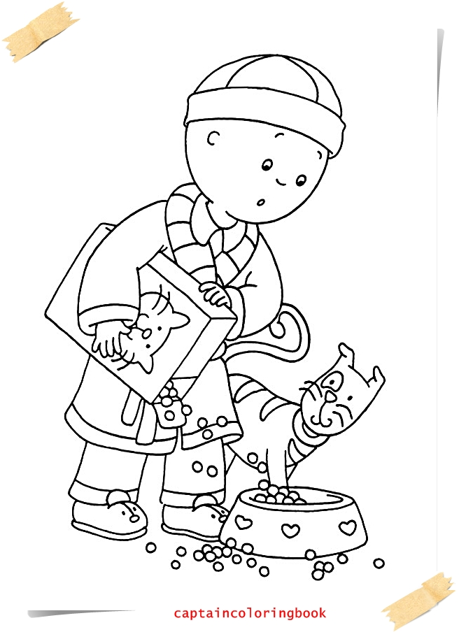 Caillou Coloring Pages e-book - Coloring Page