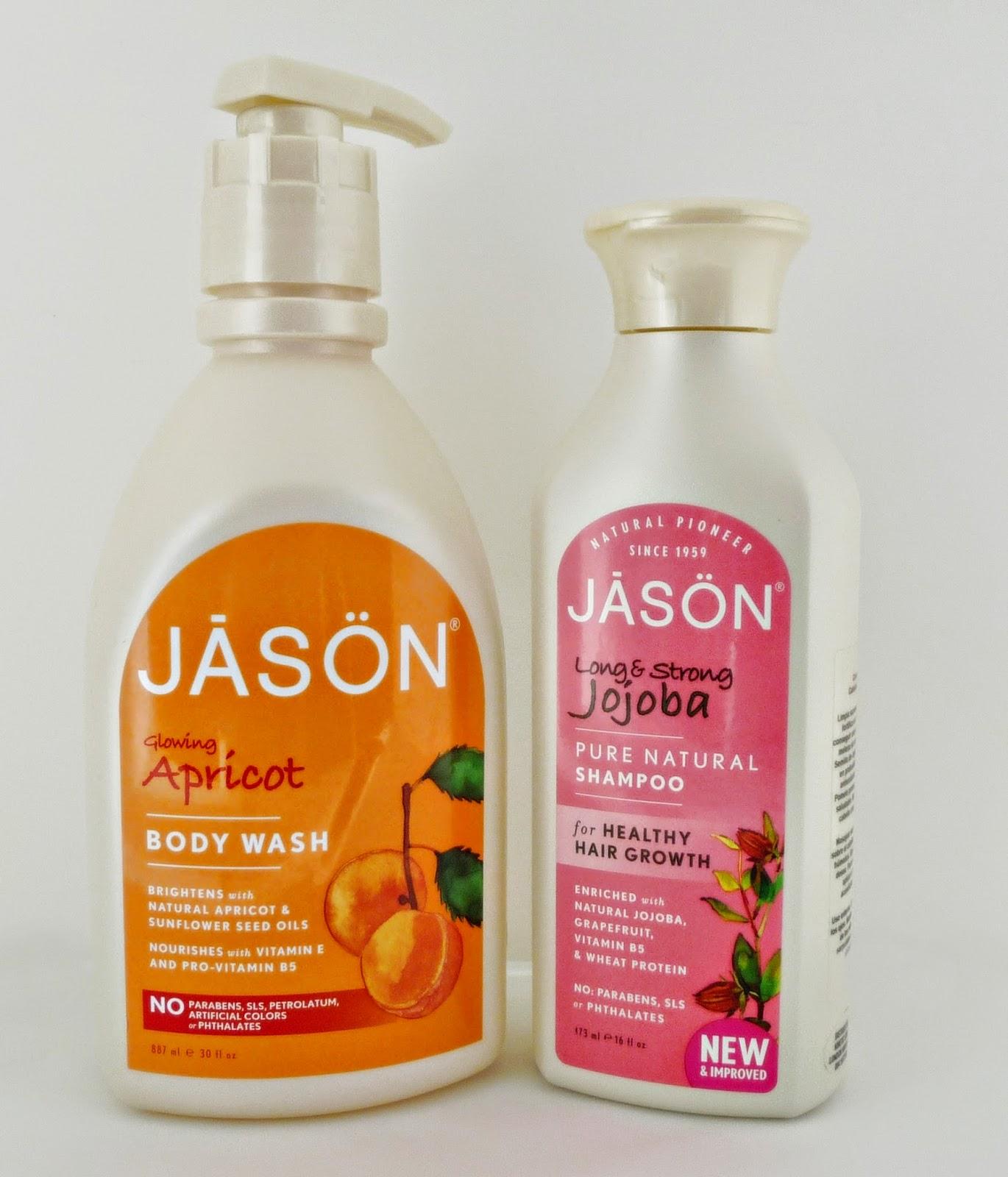 Gel de albaricoque y champú de jojoba de Jasön. Cosmética natural y ecológica