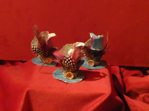 Alice Through Looking Glass miniature Hatter hats