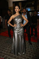 Rakul Preet Singh in Shining Glittering Golden Half Shoulder Gown at 64th Jio Filmfare Awards South ~  Exclusive 038.JPG