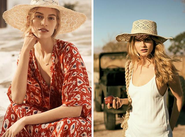 Девушка в летней соломенной широкополой шляпе