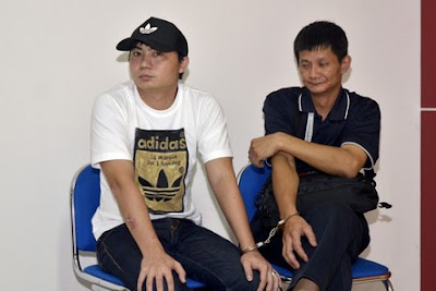 Taiwanese nationals Yu Tsai Chen (44) and Hsiao Tzu Hung (30) allegedly smuggled 70 kilos of crystal methamphetamine into Indonesia