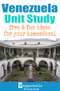This Venezuela unit study is packed with activities, crafts, book lists, and recipes for kids of all ages! Make learning about Venezuela in your homeschool even more fun with these free ideas and resources. #Venezuela #homeschool